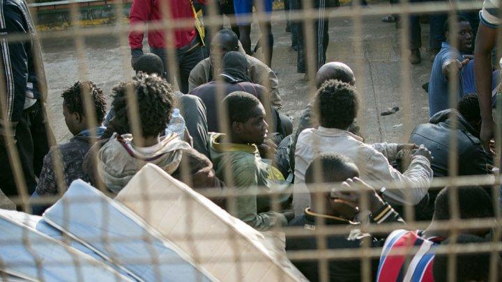 © AFP - Des migrants subsahariens dans le centre d'accueil de Melilla