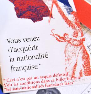 Notification d'obtention de la nationalité française - Modifiée par Mawulolo