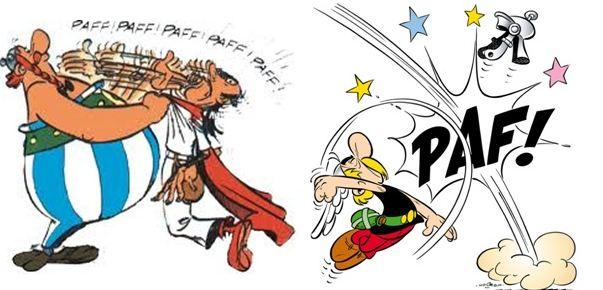 Obélix et Astérix en pleine action