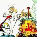 Panoramix préparant la potion magique
