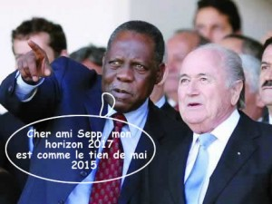 Blatter et Hayatou - Photo : El Watan - Illustration : Mawulolo
