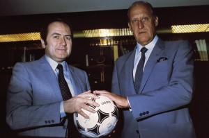Blatter et Havelange en 1982 - Photo : Wikipedia