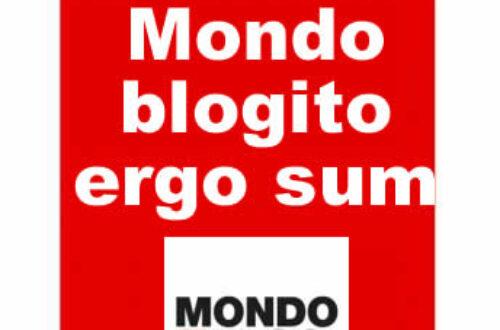 Article : Mondoblogito ergo sum *