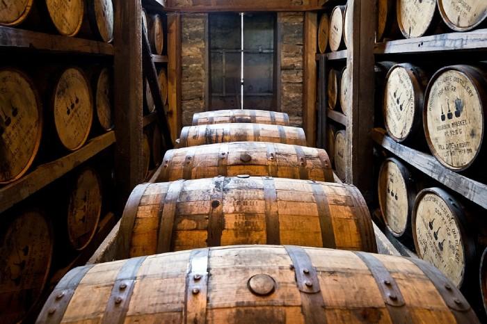 Fût de distillation où s'évapore la part des anges