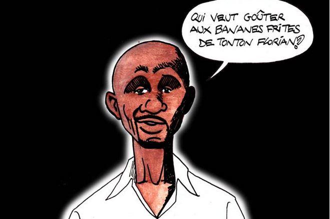 Caricature de Florian Kaptué - Par Jeff Ikapi