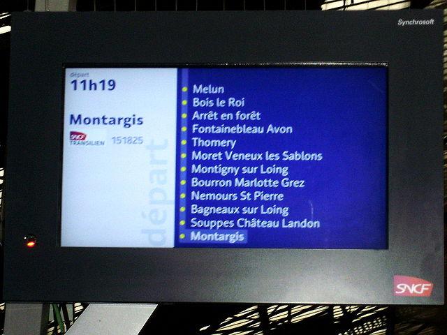 Horaires de trains