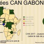 Données chiffrées sur la Coupe d'Afrique des Nations 2017 - Par Roger Mawulolo avec Picktochart