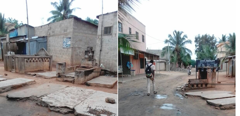 Tombes en plein rue à Lomé - Photos : Roger Mawulolo