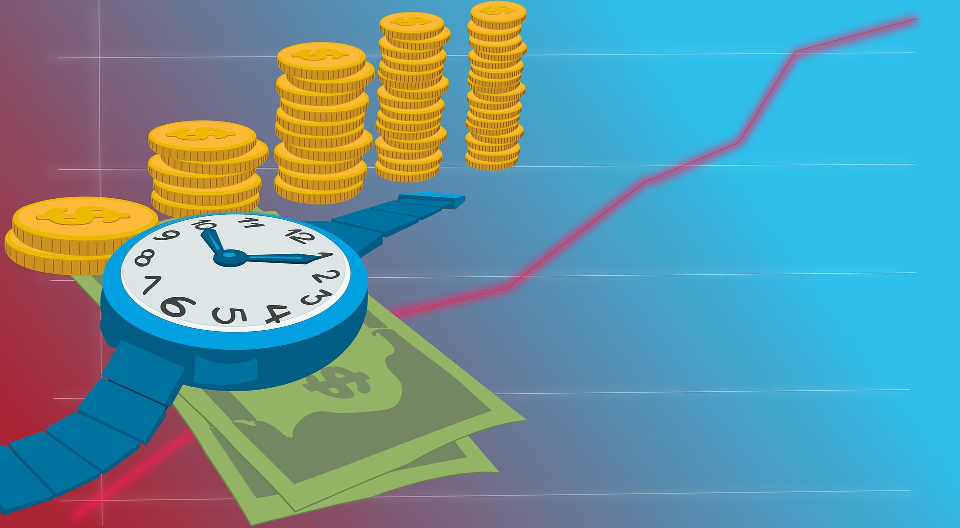 Temps et argent - Image libre : Rilsonav sur pixabay.com