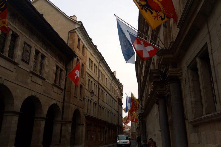 Une rue de Genève - Photo : Roger Mawulolo