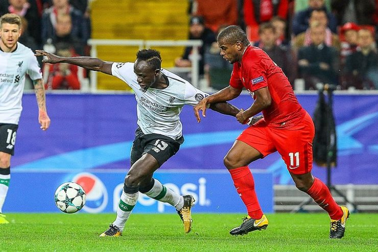 Sadio Mané dans un match de Liverpool contre le Spartak de Moscou - Photo : Wikimedia Commons