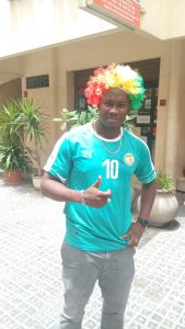 Un supporter du Sénégal avant le match fatidique contre la Colombie - Photo : Roger Mawulolo