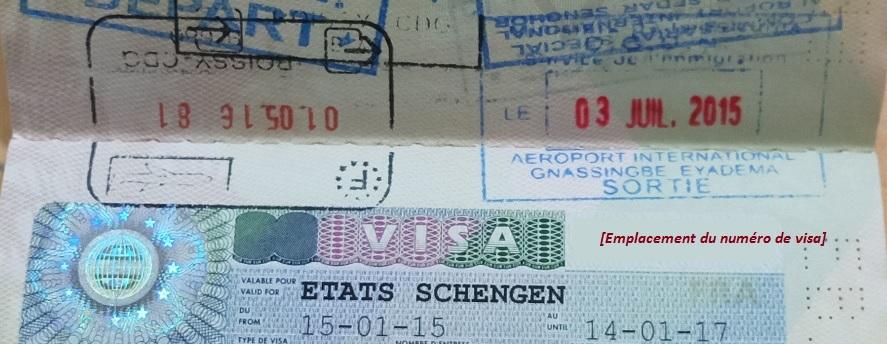 Image d'une partie de passeport montrant un visa schengen - Photo et retouche : Roger Mawulolo