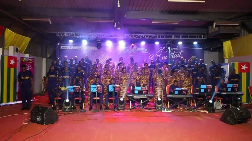 « 27 avril s'il m'était chanté » avec le Chœur de l'Unité Togolaise - Photo fournie par le Chœur